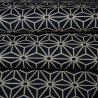 Japanese cloth 52x52 night blue - Asanoha prints. Gift wrapping cloth.