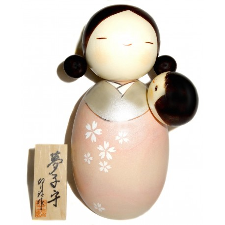 Kokeshi doll - Baby-sitter. Japanese wooden dolls