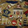 Carré de tissu 52 x 52 marron - Nippon Ippai. Emballage cadeaux réutilisable en tissu.