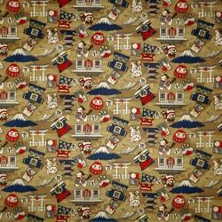 Carré de tissu 52 x 52 marron - Nippon Ippai