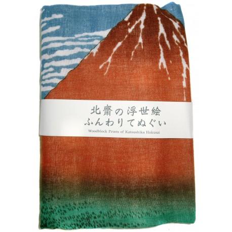 Serviette en gaze 89x32 - Gaifû kaisei d'Hokusaï. Tissus japonais