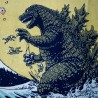 Tenugui Godzilla - Hokusaï's Great Wave. Japanese cloths.