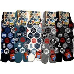 Tabi socks Size 39 to 43 - Nippon Kamonprints