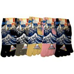 Chaussettes 5 orteils - Du 35 au 39 - Grande vague d'Hokusaï