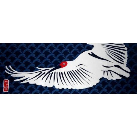 Tenugui Echigo Collection - Ibis. Japanese decorative cloths and fabrics.