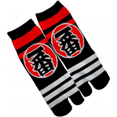 Chaussettes japonaise tabi - Du 39 au 43 - Motifs Ichiban . Chaussettes japoanises à orteils.