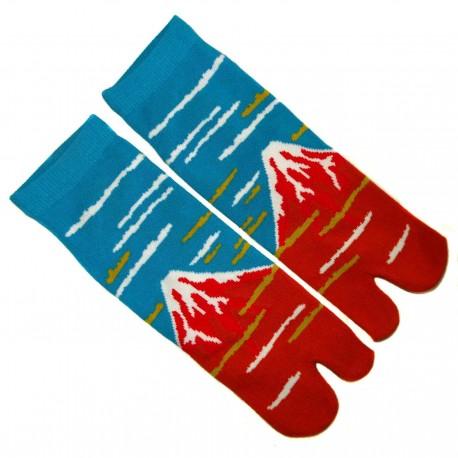 Chaussettes japonaise tabi - Du 39 au 43 - Motif Gaifû kaisei. Chaussettes à orteils.