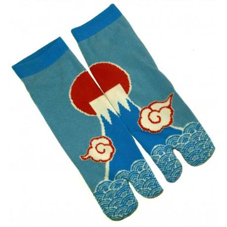 Chaussettes japonaise tabi - Du 39 au 43 - Motifs de Mont Fuji. Chaussettes à orteils.