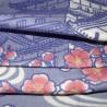 Serviette en gaze 90x34 cm - Tsuki Shiro château sous la lune. Tissus et textiles japonais