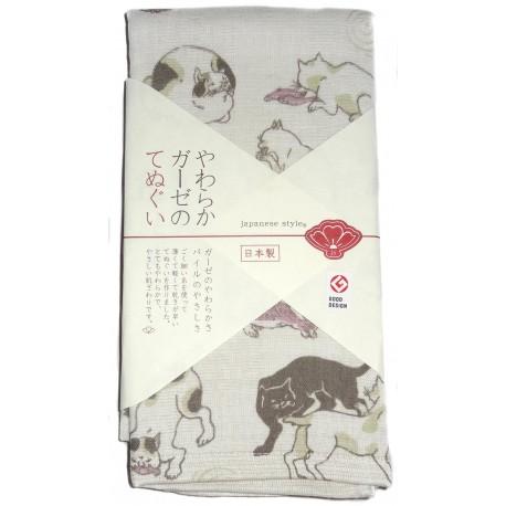 Serviette en gaze 90x34 cm - Myokaiko Gojusanbiki; Tissus et textiles japonais.