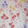 Tenugui réversible - Rencontre sous les cerisiers. Tissus et textiles japonais.