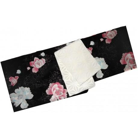 Yukata femme - Set 344, qualité supérieure. Kimono japonais d'été en coton