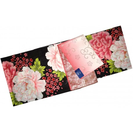 Yukata femme - Set 346. kimono japonais d'été en coton