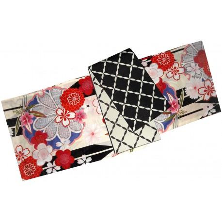 Yukata femme - Set 349. kimono japonais d'été en coton