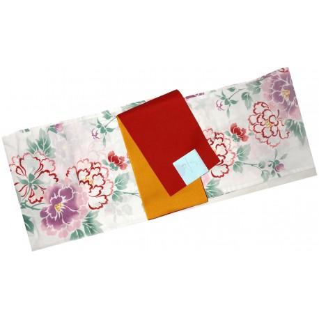 Yukata femme - Set 340. kimono japonais d'été en coton