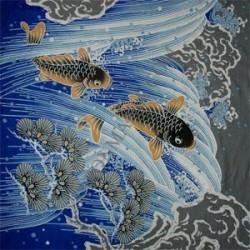 Furoshiki 118x118 blue - carps prints